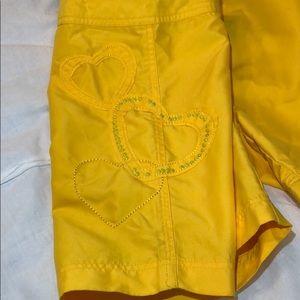 Body Glove yellow board shorts